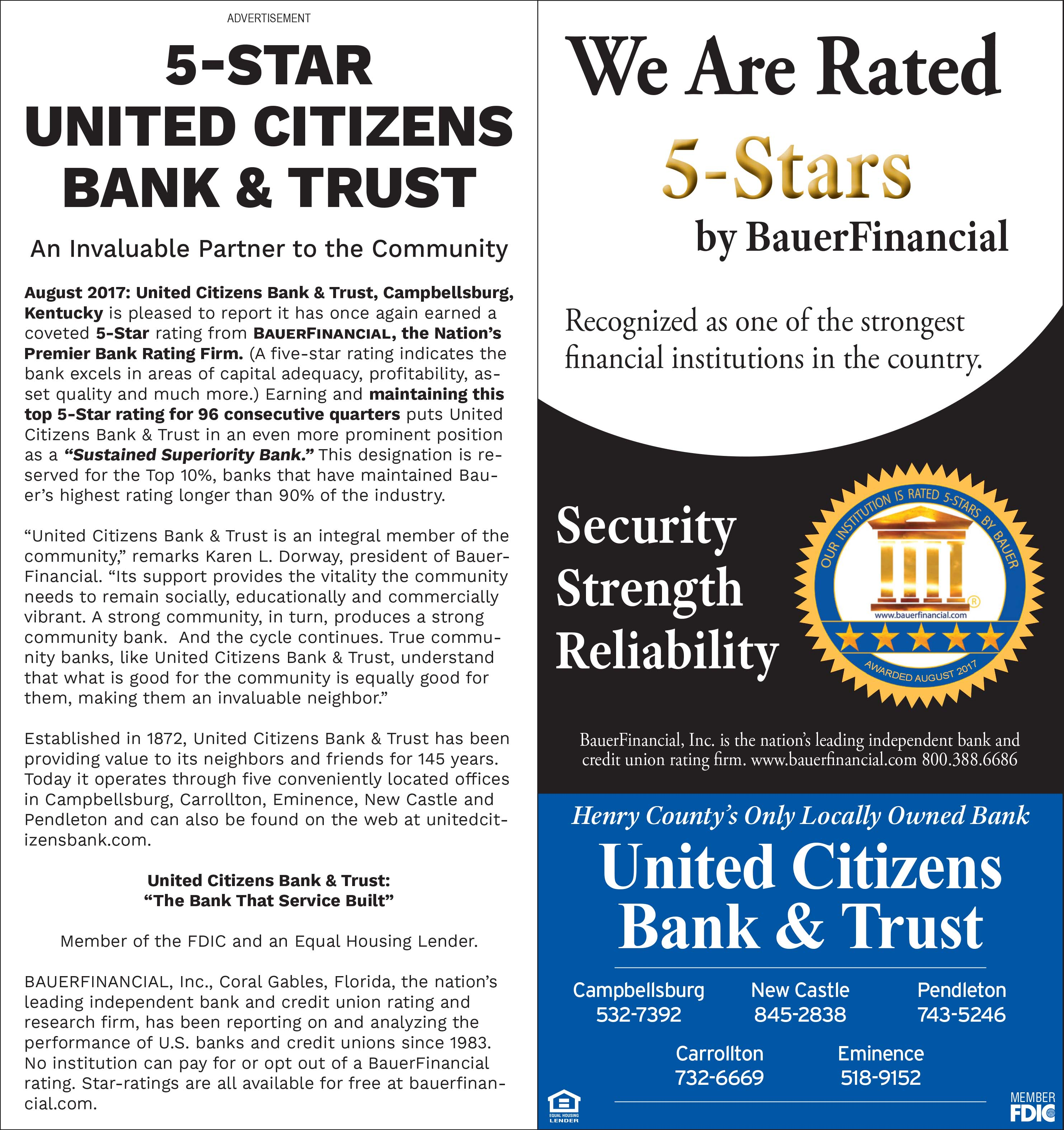 media releases ucbt united citizens bank trust